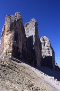 L'imponenza della roccia