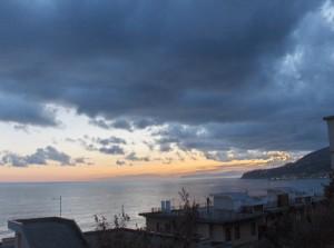 tramonto su cogoleto