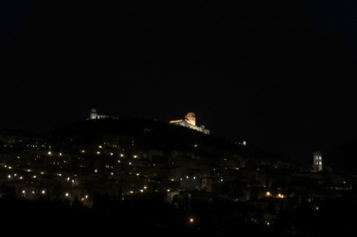 Assisi - Panorama Notturno di Assisi