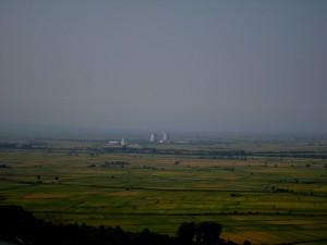 Trino Vercellese, panorama con centrale nucleare
