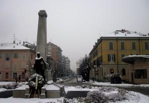 Sta nevicando: la neve non permette di vedere oltre…