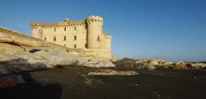 Sabbia nera prima di arrivare al castello