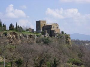 Sole invernale sul castello di Seppie
