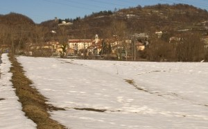 Oggi, però, ho trovato ancora un po' di neve!