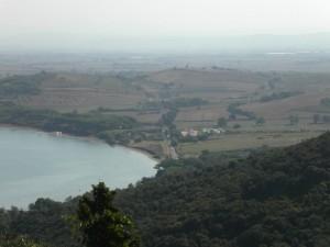 Da Populonia: Baratti e in lontananza Piombino