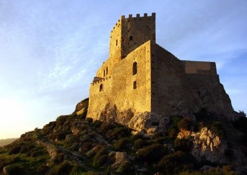 Palma di Montechiaro -  Castello di Montechiaro al tramonto