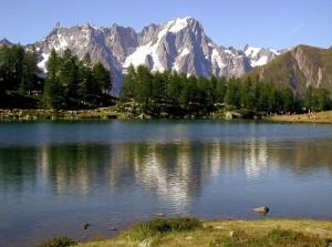 Pomeriggio al lago d'Arpy
