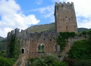 Il castello Caetani a Ninfa