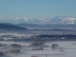 Nebbie invernali intorno ad Azeglio