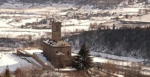 Castello di Sarre con neve 06
