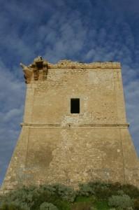 Lato posteriore della torre di Manfria