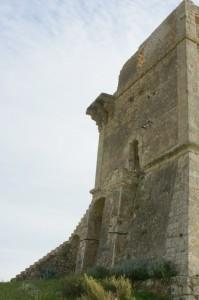 Taglio frontale della Torre di Manfria