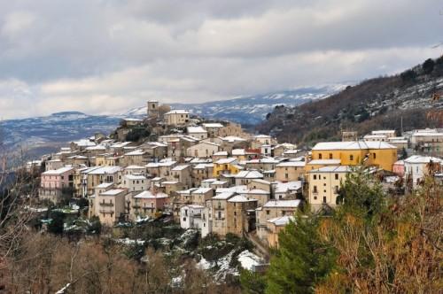Corleto Monforte - un velo di neve...... ed è inverno !!