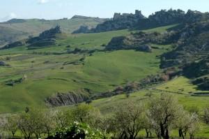 castello  in una valleverde