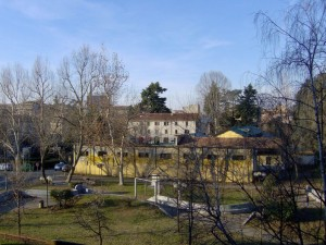 Fine della corsa:veduta di Legnano da casa mia…..