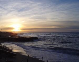 Saponara Marittima, sullo sfondo Capo Milazzo