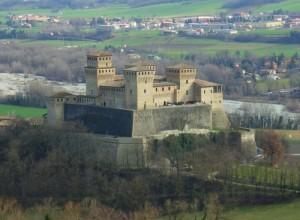 castello di Torrechiara visto da Casatico