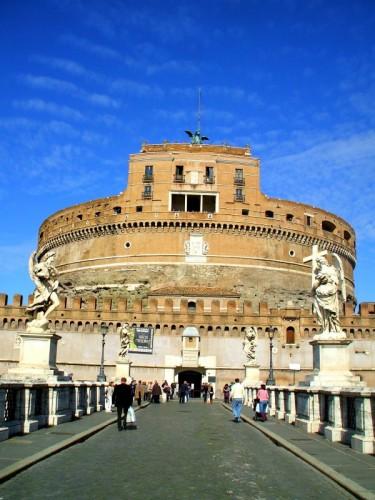 Roma - pecorelle sul Castello e l'Angelo fa il Pastore!