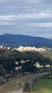 Paeseggio di Torrita Tiberina e il Tevere