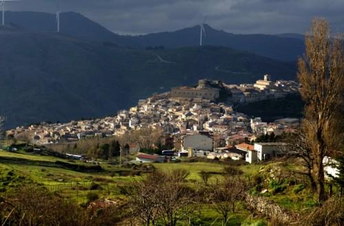 Montalbano Elicona - Panorama prima della pioggia