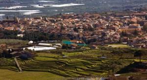 Verdi terrazzamenti a Piedimonte