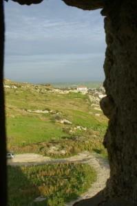 Panorama del viadotto Visto da una finestrella della Torre di Manfria.