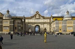 La porta di piazza del Popolo