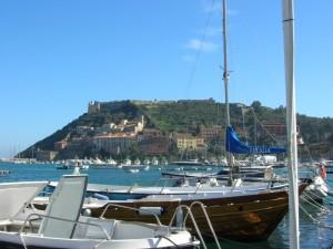 """Porto Ercole. """"La Rocca spagnola e il porto vecchio"""""""