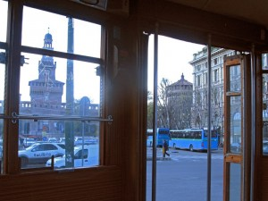 Il castello visto dal… tram!