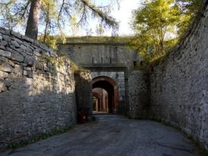 l'ingresso al forte….