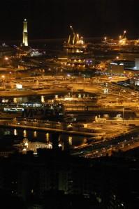 il porto di Genova by night