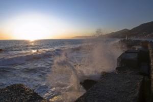 """"""" tramonto sul molo del porticciolo """""""