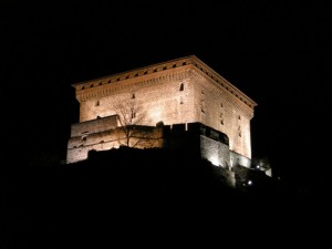 La rocca di Verres by night