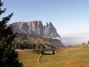 Autunno sulle Alpi di Siusi