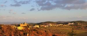 La bellissima campagna toscana - tramonto su Castellina in Chianti