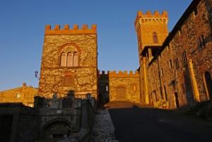 Tramonto sul Castello di Querceto