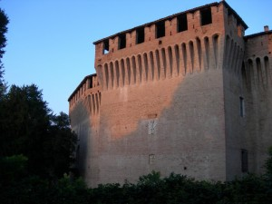 La luce del tramonto sul castello