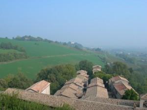 Il borgo del castello di Torrechiara