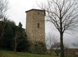 La torre che domina la valle del Mutino