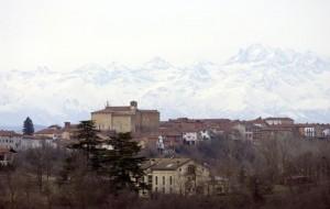 Scurzolengo e le Alpi.