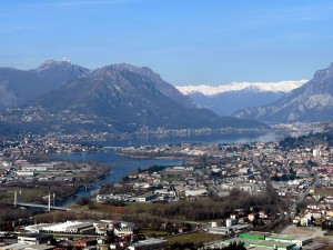 Calolziocorte e il laghi di Garlate e Olginate