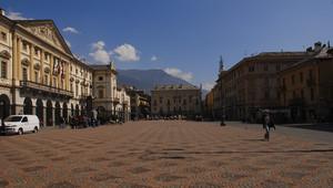 Aosta piazza Emile Chanoux
