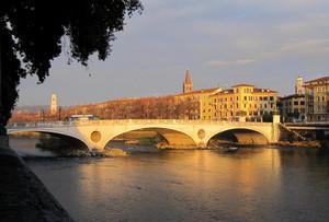 Tramonto sull'Adige