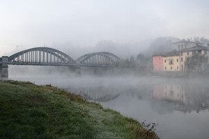 Ponte di Brivio un mattino d'inverno