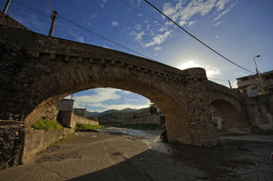 Ponte sulla fiumara a Gualtieri