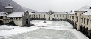 Il piazzale della Basilica Antica del Santuario di Oropa