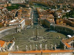 la piazza più famosa vista dall'alto