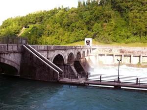 il ponte sulla Diga di Robbiate