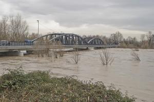 Ponte e piena dell'Isonzo