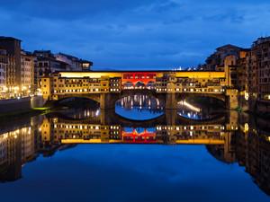 Luci su Ponte Vecchio